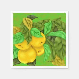 Golden Delicious Apples Paper Napkin