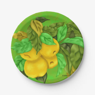 Golden Delicious Apples Paper Plate