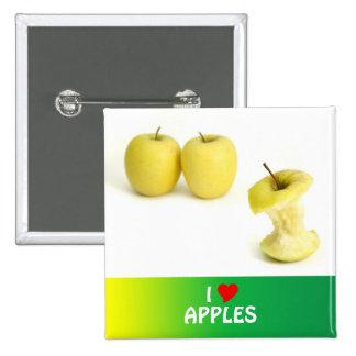 Golden Delicious Apples Pinback Button