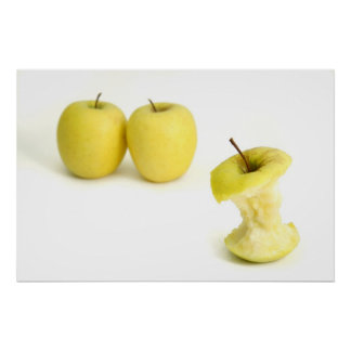 Golden Delicious Apples Poster