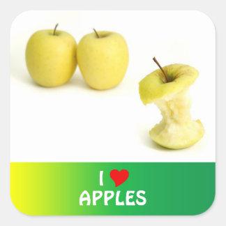 Golden Delicious Apples Square Sticker