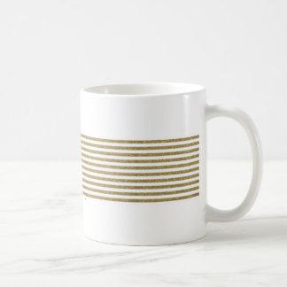 Golden Delicious glitter striped coffee mug