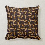 Golden Demoiselle Dragonflies Pillow