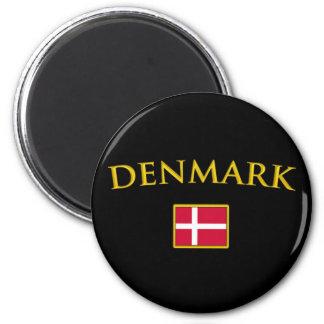 Golden Denmark 2 Inch Round Magnet
