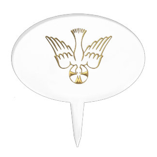 Golden Descent of The Holy Spirit Symbol Cake Toppers