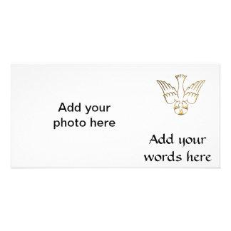 Golden Descent of The Holy Spirit Symbol Card