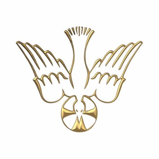 Golden Descent of The Holy Spirit Symbol Cutout