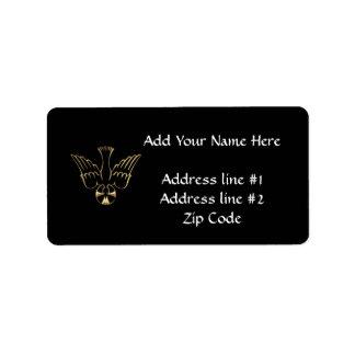 Golden Descent of The Holy Spirit Symbol Label