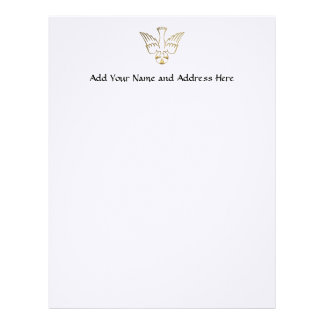 Golden Descent of The Holy Spirit Symbol Letterhead