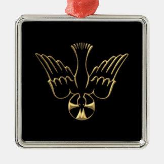 Golden Descent of The Holy Spirit Symbol Metal Ornament