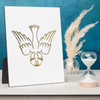 Golden Descent of The Holy Spirit Symbol Plaque