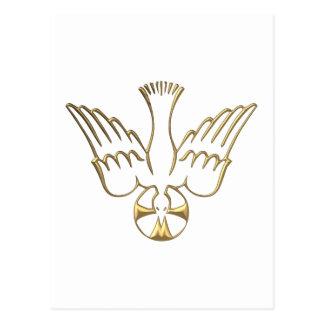 Golden Descent of The Holy Spirit Symbol Postcard