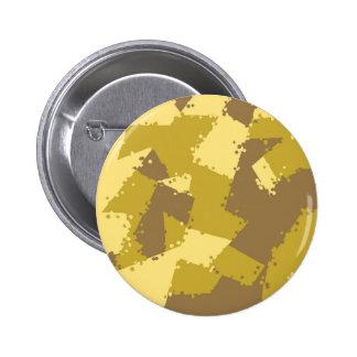 Golden Desert Camo Pinback Button