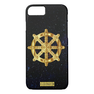 Golden Dharma Wheel Buddhism And Hinduism Symbol iPhone 8/7 Case
