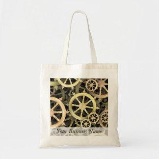 Golden Dharmacakra Canvas Bag