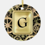 Golden Dharmacakra Christmas Ornament