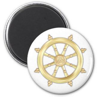 Golden Dharmacakra Magnet