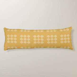 Golden Diamond Pattern Body Pillow