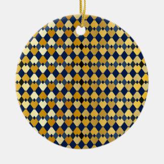 Golden diamonds ceramic ornament