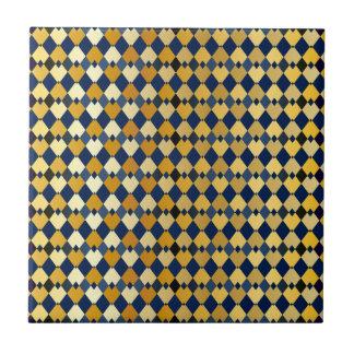 Golden diamonds ceramic tile