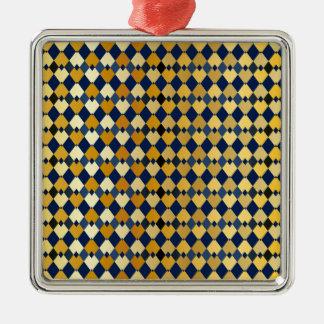 Golden diamonds metal ornament