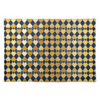 Golden diamonds place mat