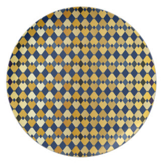 Golden diamonds party plate