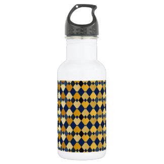 Golden diamonds water bottle