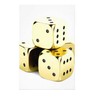 Golden dices stationery