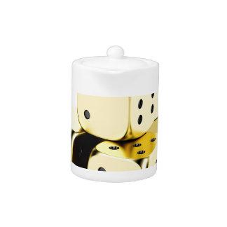 Golden dices teapot