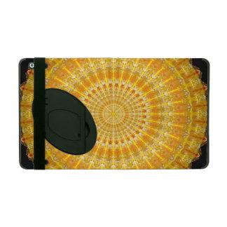 Golden Disc of Secrets Mandala iPad Cover