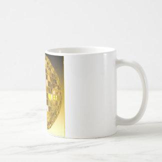 Golden Disco Ball Classic White Coffee Mug