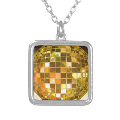 Golden Disco Ball Jewelry