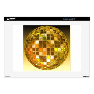 "Golden Disco Ball 15"" Laptop Decal"