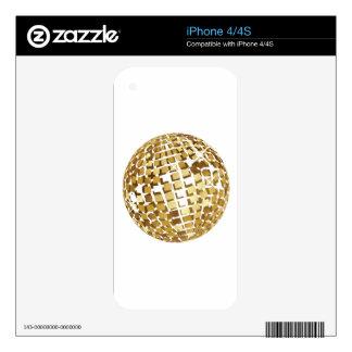 Golden disco ball skin for iPhone 4