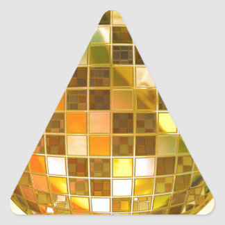 Golden Disco Ball Triangle Sticker