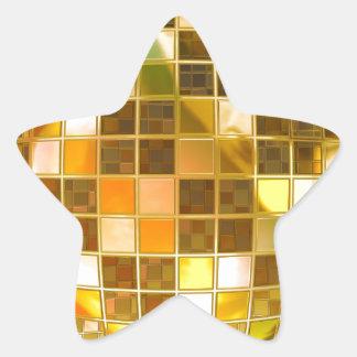 Golden Disco Ball Star Sticker