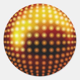 Golden Disco Lights Classic Round Sticker