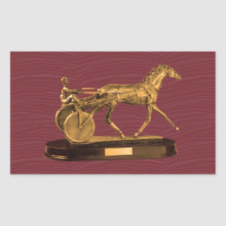 Golden DISPLAY GIFTS VINTAGE HORSE CHARRIOT Rectangular Stickers