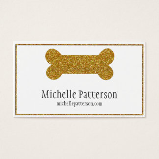 Golden Dog Bone Business Card Design