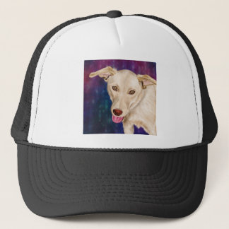 Golden Dog with a Strawberry Like Nose Trucker Hat