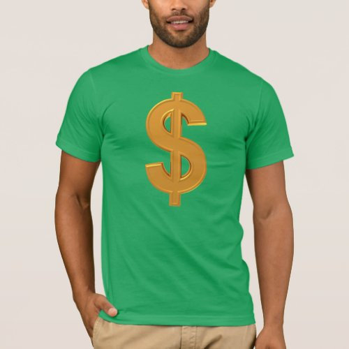 Golden Dollar Sign T_Shirt T_Shirt