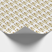 Golden Dollar Sign Wrapping Paper