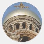 Golden Dome Etiquetas Redondas
