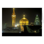 Golden dome of the Imam Reza Shrine Complex at Greeting Cards
