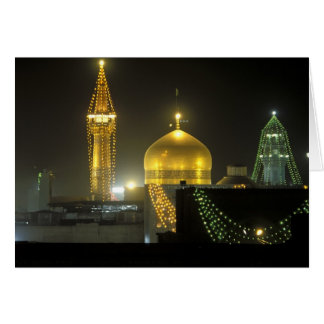 Golden dome of the Imam Reza Shrine Complex at Card