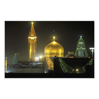 Golden dome of the Imam Reza Shrine Complex at Photo Print