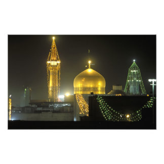 Golden dome of the Imam Reza Shrine Complex at Photograph
