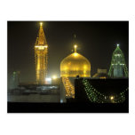 Golden dome of the Imam Reza Shrine Complex at Postcards