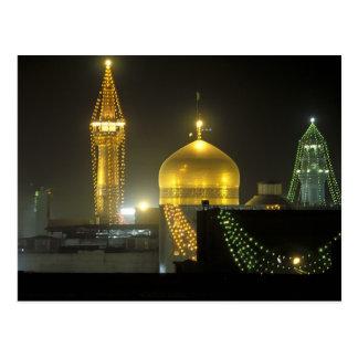 Golden dome of the Imam Reza Shrine Complex at Postcard